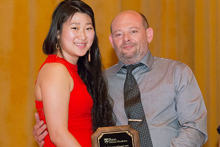 Art Kofman, C.D.T. Quality Control Coordinator and the Office of Laboratory Affairs Supervisor, and student presenter; Kofman received the Senior Outstanding Teaching Award.
