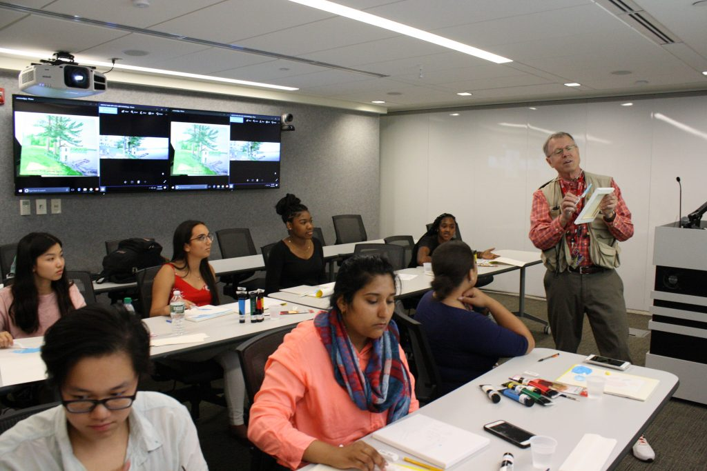 Participants took part in a painting selectives class taught by Dr. Tom Barber.