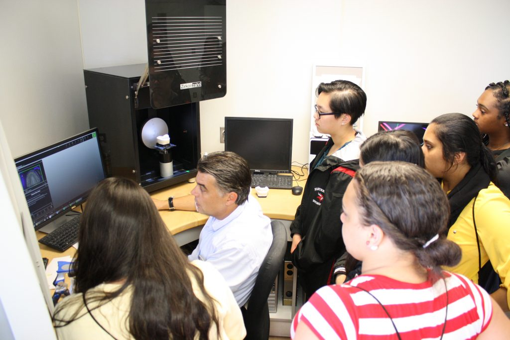 Participants were introduced to digital dentistry at a demonstration in the School's CAD CAM Center.