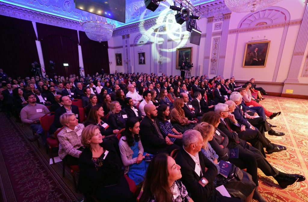 More than 240 Penn alumni, parents, students, and friends gathered for the London Power of Penn Kickoff.