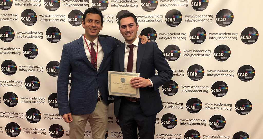 Fourth-year Penn Dental Medicine student William Kessler (D'20), right, with Dr. Julian Conejo, Chairside CAD/CAM Director.