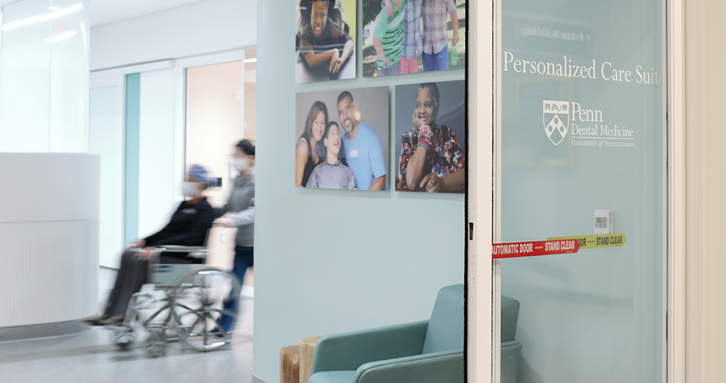 The reception area of the Personalized Care Suite.